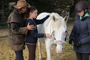 Körperabeit mit Kindern und Pferden